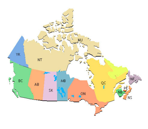 Pin area code time zone map and canada on pinterest